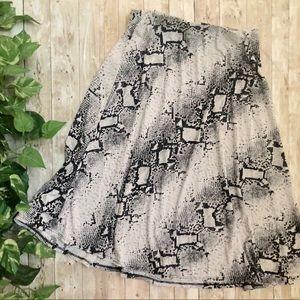 💛 Ellen Tracy Snakeskin Pattern Midi Skirt